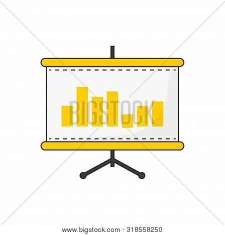 Flipchart, Board For Presentations In Flat Style