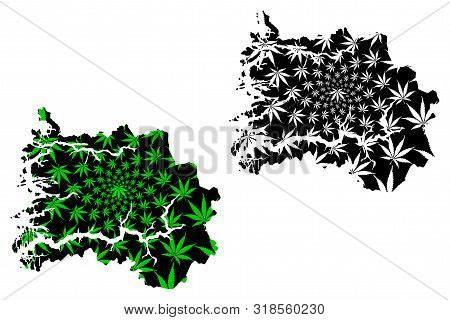 Sogn Og Fjordane (administrative Divisions Of Norway, Kingdom Of Norway) Map Is Designed Cannabis Le