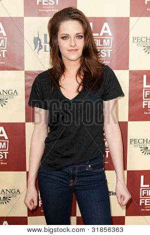 LOS ANGELES - JUNE 21: Kristen Stewart arrives at the Los Angeles Film festival premiere of 'A Better Life' on June 21, 2011 in Los Angeles, CA