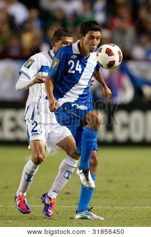 CARSON, CA. - JUNE 6: Guatemala M Jonathan Lopez #24 in action during the 2011 CONCACAF Gold Cup group B game on June 6, 2011 at the Home Depot Center in Carson, CA.