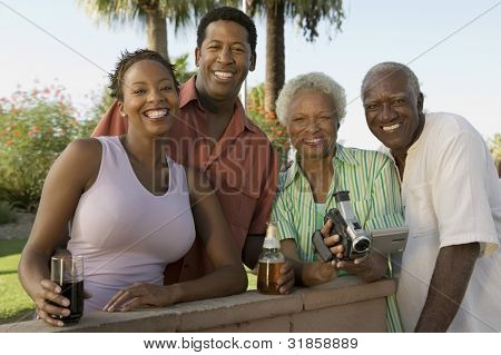 Family Together During Outdoor Barbecue