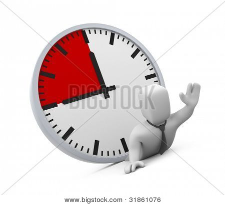 Deadline. Image contain clipping path poster