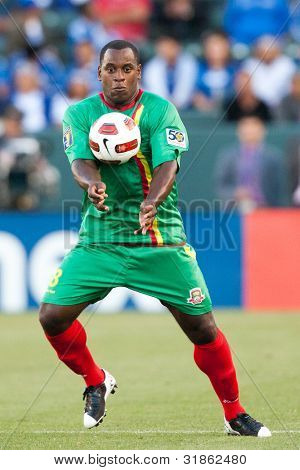 CARSON, CA. - JUNE 6: Grenada forward Delroy Facey #8 in action during the 2011 CONCACAF Gold Cup group B game on June 6, 2011 at the Home Depot Center in Carson, CA.