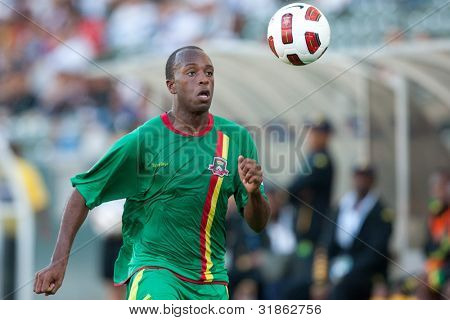 CARSON, CA. - JUNE 6: Grenada D Anthony Straker #15 in action during the 2011 CONCACAF Gold Cup group B game on June 6, 2011 at the Home Depot Center in Carson, CA.