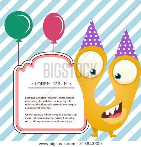 Fun Monsters Happy Vector Photo Free Trial Bigstock
