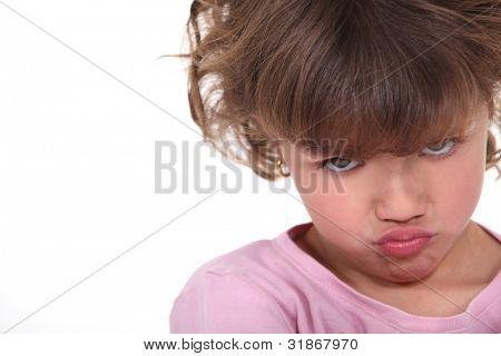 sulky little girl