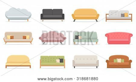 Comfortable Sofas. Luxury Couch For Apartment, Comfort Sofa Models And Modern House Sofas. Domestic