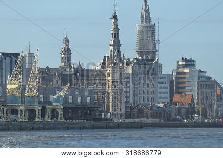 The skyline of Antwerp with its old architecture