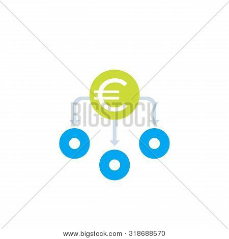 Financial Diversification, Diversified Investment Vector Icon With Euro