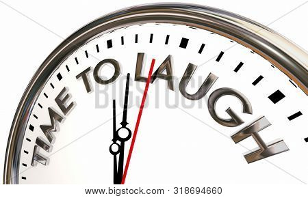 TIme to Laugh Comedy Jokes Humor Clock 3d Animation