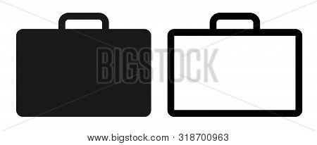 Briefcase Icon Set, Flat Illustration Of Briefcase – Vector