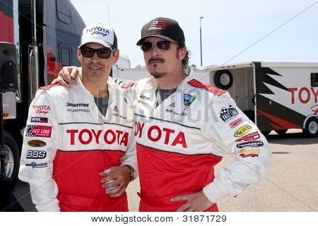 LOS ANGELES - APR 3:  Eddie Cibrian, Kim Coates at the 2012 Toyota Pro/Celeb Race Press Day at Toyota Long Beach Grand Prix Track on April 3, 2012 in Long Beach, CA
