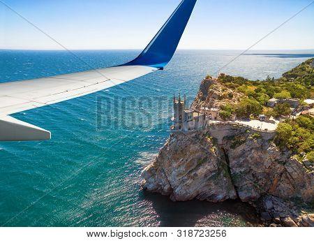 Plane Flies Above Crimea, Russia