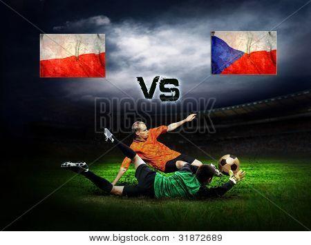 Friendly soccer match between Poland and Czech