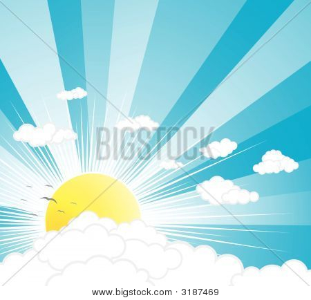 Beautiful Sunny Sky Background
