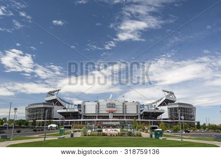 Denver, Co, Usa - August 24, 2019: Broncos Stadium At Mile High Is The Home Of The Denver Broncos Nf