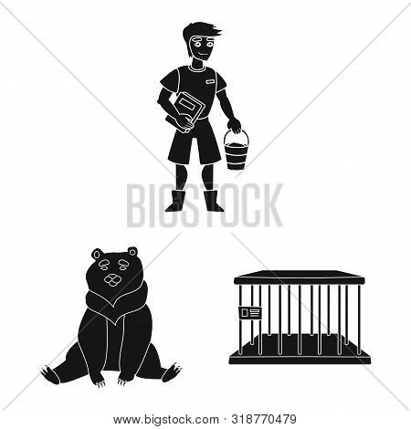poster of Isolated object of fauna and entertainment symbol. Collection of fauna and park stock symbol for web.