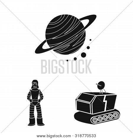 Vector Design Of Colonization And Sky Logo. Set Of Colonization And Galaxy Vector Icon For Stock.