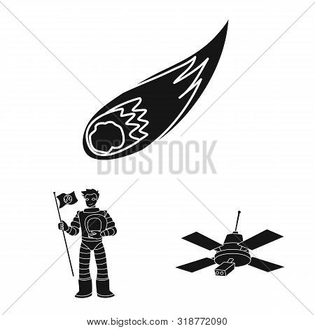 Vector Design Of Colonization And Sky Logo. Collection Of Colonization And Galaxy Stock Vector Illus