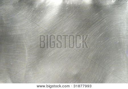 Brushed Metal Texture mit Beleuchtung und Objektiv Ghost.