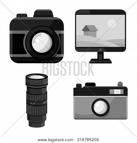 Isolated Object Of Professional And Accessories Icon. Set Of Professional And Work Stock Symbol For