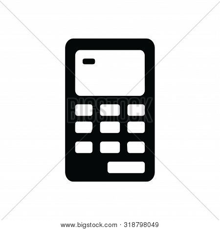 Calculator Icon Isolated Black On White Background, Calculator Icon Vector Flat Modern, Calculator I