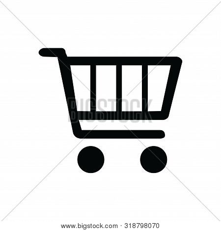 Shooping Cart Icon Isolated Black On White Background,shooping  Cart Icon Vector Flat Modern, Cart I