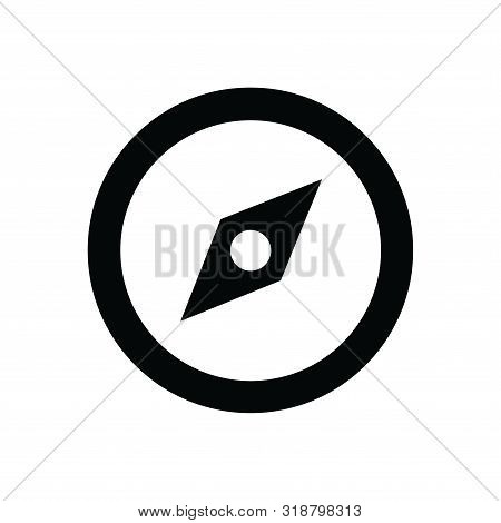Navigation Icon Isolated Black On White Background, Navigation Icon Vector Flat Modern, Navigation I