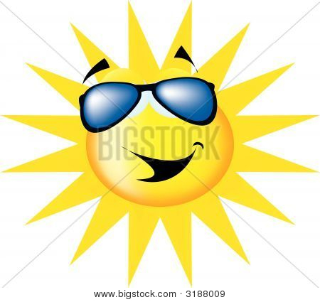 Sun Wearing Sunglasses