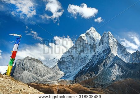 View Of Ama Dablam On The Way To Everest Base Camp, Nepal