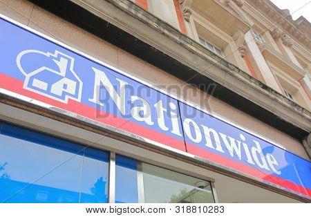 London England - June 4, 2019: Nationwide Building Society Bank Uk