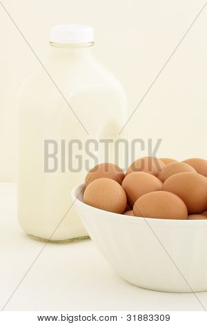 Fresh Eggs And Half Gallon Milk