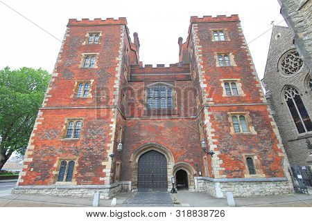 Lambeth Palace Historical Building In London Uk