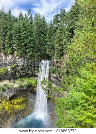 Brandywine waterfall off of the Sea to Sky highwaynear Squamish and Whistler, in Beautiful British Columbia, Canada.