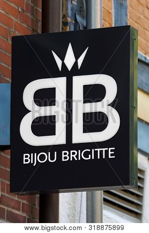 Stade, Germany - August 22, 2019: Signage identifying a Bijou Brigitte store.