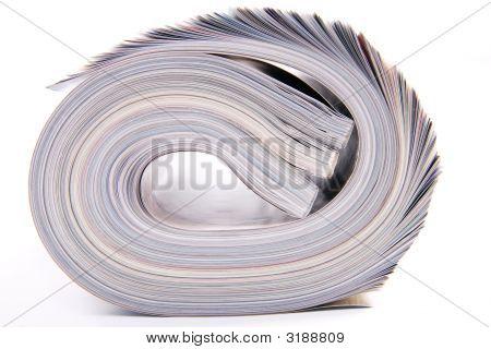 Gerollte Zeitschriften