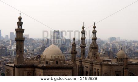 A view of Sultan Hasan Mosque facing Rifai Mosque taken from Salahudin Mosque poster