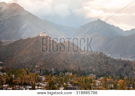 View Of Landscape Namgyal Tsemo Gompa In Leh, Ladakh, India