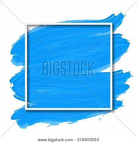 Illustration Of White Fame On Blue Brushed Background
