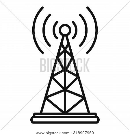 Gsm Tower Icon. Outline Gsm Tower Vector Icon For Web Design Isolated On White Background
