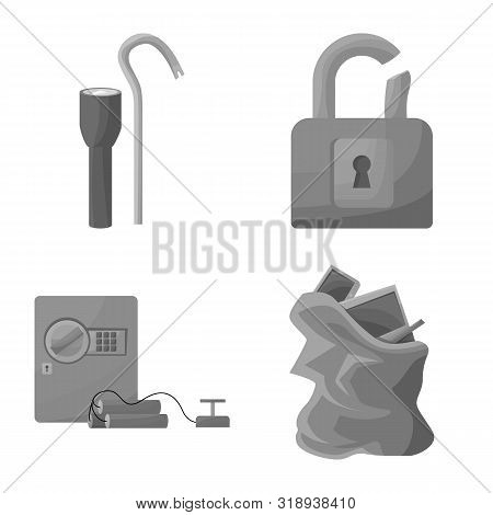 Isolated Object Of Pickpocket And Fraud Logo. Set Of Pickpocket And Steal Stock Vector Illustration.