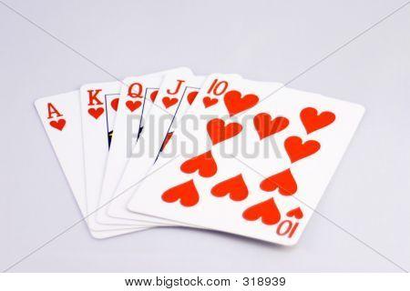 Royal Flush Hearts