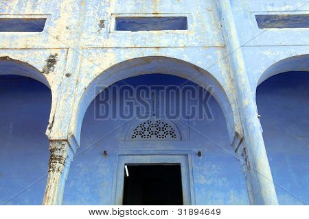 Architectural detail in Pushkar, India, Asia