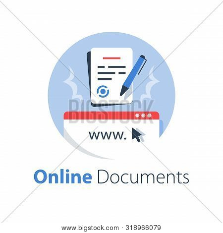 Online Government Services, Submit Document, Legal Contract Formation, Terms And Conditions, Digital