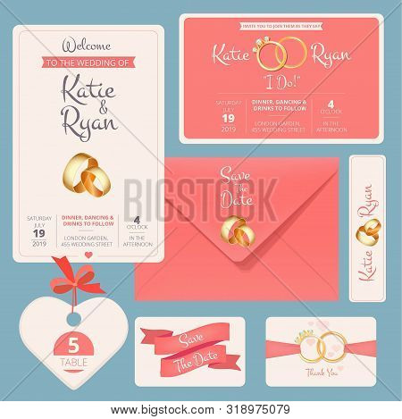 Wedding Invitation Vector Photo Free Trial Bigstock