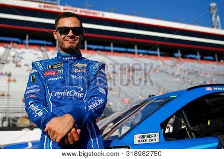 August 16, 2019 - Bristol, Tennessee, USA: Kyle Larson (42) gets ready to qualify for the Bass Pro Shops NRA Night Race at Bristol Motor Speedway in Bristol, Tennessee.