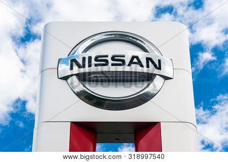 Nissan Motors Automobile Dealership Sign