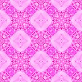 Pink medallion allover seamless pattern. Hand drawn watercolor ornament. Bizarre repeating design. Fascinating fabric cloth, swimwear design, wallpaper wrapping. poster