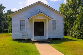 Elvis Presley Family Church, Elvis Presley Birthplace. The Assembly Of God In Tulepo Mississippi Oct