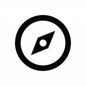 Navigation Icon Isolated Black On White Background, Navigation Icon Vector Flat Modern, Navigation I